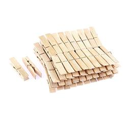 uxcell Wooden Photos Paper Laundry Hanging Clothes Pins 60mm