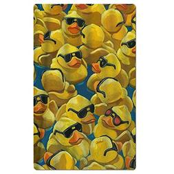 FSKDOM Yellow Rubber Duck Painting Double Jacquard Premium B